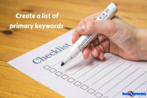 Create-a-list-of-Primary-Keywords