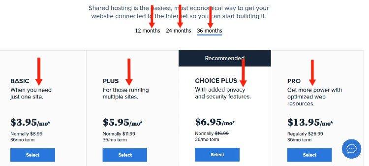 hosting-plan-bluehost
